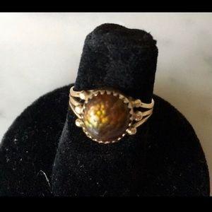 14k Denetdale gold ring; unique stone